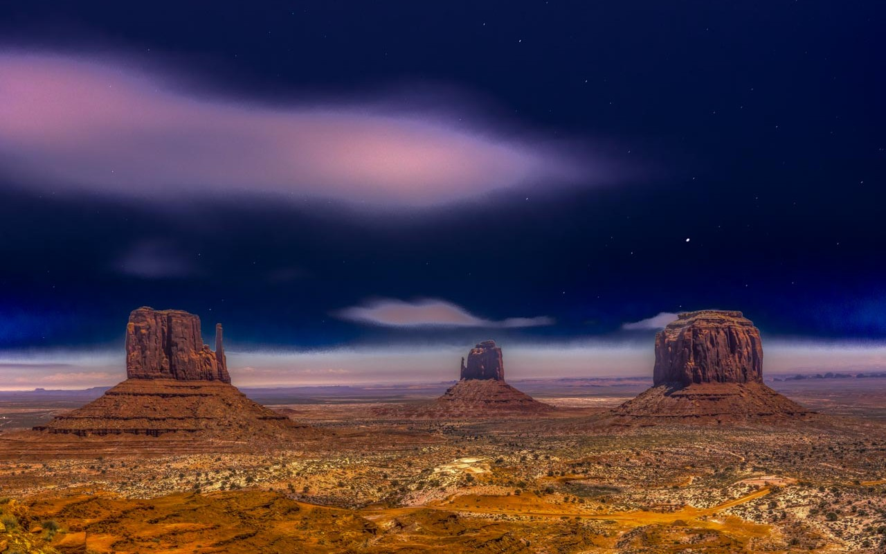 Moonlit Monument Valley Christmas